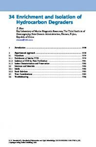 34 Enrichment and Isolation of Hydrocarbon Degraders