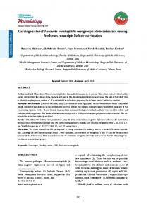 342KB - Iranian Journal of Microbiology