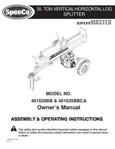 Log splitter for a truck having a three point snowplow hitch and 35 ton 401635bb log splitter manuals sciox Images