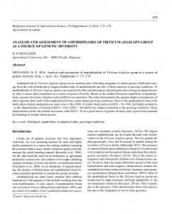 36_Hristo Stoyanov.indd - Bulgarian Journal of Agricultural Science