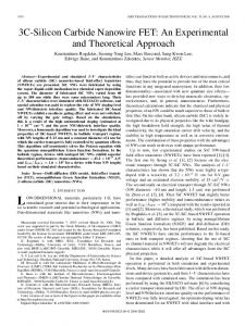 3C-Silicon Carbide Nanowire FET: An Experimental and ... - IEEE Xplore
