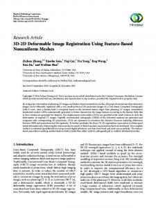 3D-2D Deformable Image Registration Using Feature-Based ...