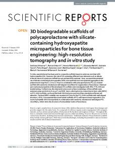 3D biodegradable scaffolds of polycaprolactone with ...