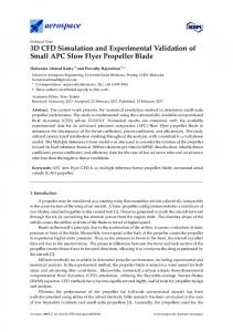 3D CFD Simulation and Experimental Validation of Small APC ... - MDPI