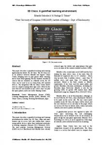 3D Class: A gamified learning environment. - SBGames