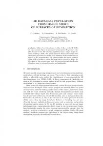 3d database population from single views of surfaces of revolution