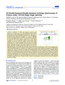 3D Double-Quantum / Double-Quantum Exchange Spectroscopy of ...