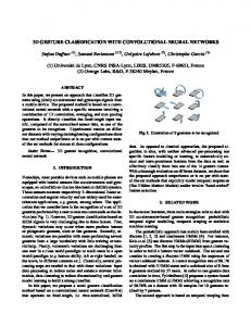3D GESTURE CLASSIFICATION WITH CONVOLUTIONAL NEURAL ...