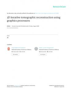 3D iterative tomographic reconstruction using