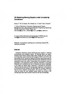 3D Modeling Moving Objects under Uncertainty Conditions - TU Wien