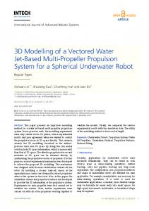3D Modelling of a Vectored Water Jet-Based Multi ... - IntechOpen