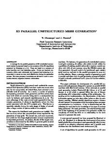3d parallel unstructured mesh generation