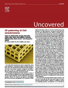 3D patterning of ZnO nanostructures