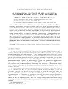 3D Rheological Structure of the Continental ... - Wiley Online Library