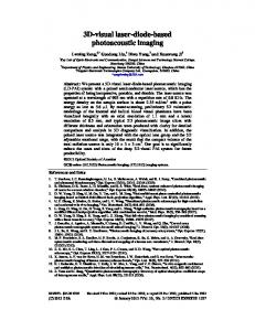 3D-visual laser-diode-based photoacoustic imaging - OSA Publishing
