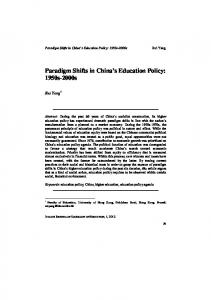 3.Paradigm Shifts in Chinas Education Policy - ITALIAN JOURNAL OF ...