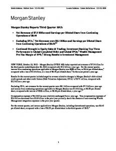 3Q 2013 - Morgan Stanley