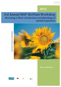 3rd Annual MAP‐BioPlant Workshop - MAP — MAP