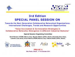 3rd Edition SPECIAL PANEL SESSION ON