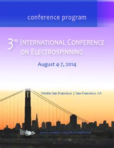 3rd International Conference on Electrospinning - The American ...