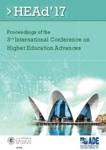 3rd International Conference on Higher Education ...