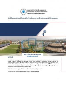 3rd International Scientific Conference on Business