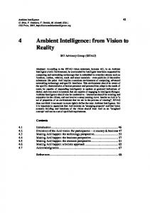 4 Ambient Intelligence: from Vision to Reality - Semantic Scholar
