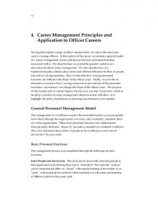 4. Career Management Principles and Application to Officer Careers