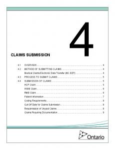 4. CLAIMS SUBMISSION