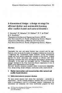 4-dimensional design: a design strategy for efficient shelter and ...