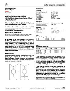 4-(Dimethylamino)pyridinium trichlorido[4-(dimethylamino ... - CiteSeerX