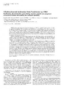 4-Hydroxybenzoate Hydroxylase from ... - Wiley Online Library