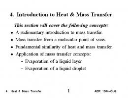 4. Introduction to Heat & Mass Transfer