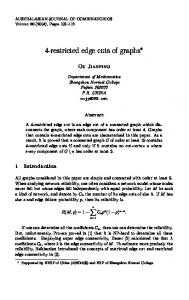 4-restricted edge cuts of graphs - The Australasian Journal of