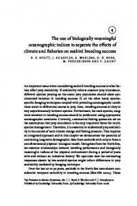 4 The use of biologically meaningful oceanographic indices to ...