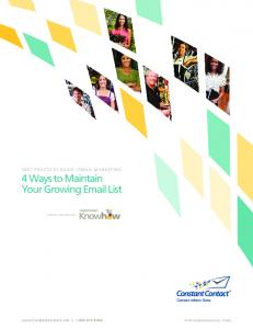 4 Ways to Maintain your growing email List - Constant Contact