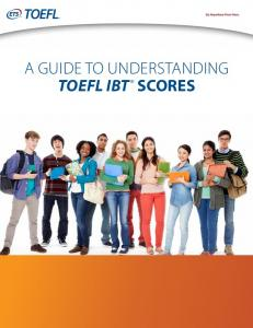 4256 TOEFL iBT Performance Feedback for Test Takers - ETS