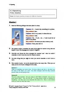 4.3 Speaking Tricky situations - English Language Support ...