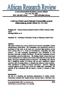 453 A Survey of Job Loss in Selected Communities around ...