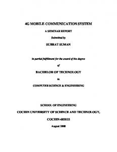 4G Mobile Communication system.pdf - DSpace at CUSAT - Cochin ...
