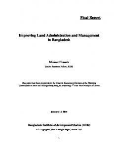 4_Improving Land Administration and Management_Final