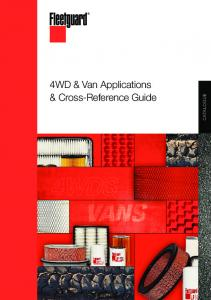 4WD & Van Applications & Cross-Reference Guide