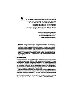 5 a checkpointing-recovery scheme for domino ... - Semantic Scholar
