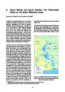 5. holey rocks and holey ghosts: the threatened karst of the ... - Habitas