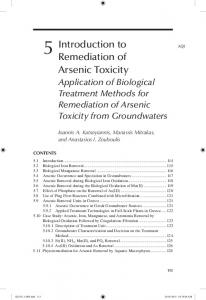 5 Introduction to Remediation of Arsenic Toxicity