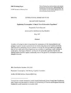 56 international monetary fund - SSRN papers