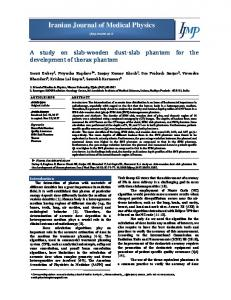 565 K - Iranian Journal of Medical Physics