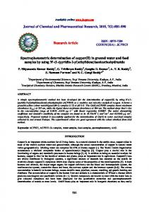 581-590 Research Article Spectrophotometric determination of cop