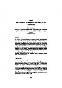 '5850 Regulation of Banking and Financial Markets'.