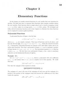 59 Chapter 3 Elementary Functions